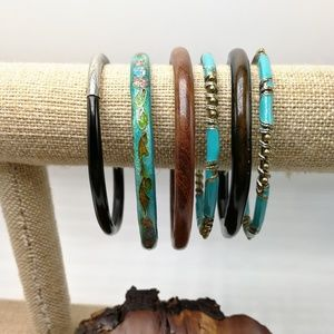 🌵 Vintage bundle lot turquoise brass wood bolly